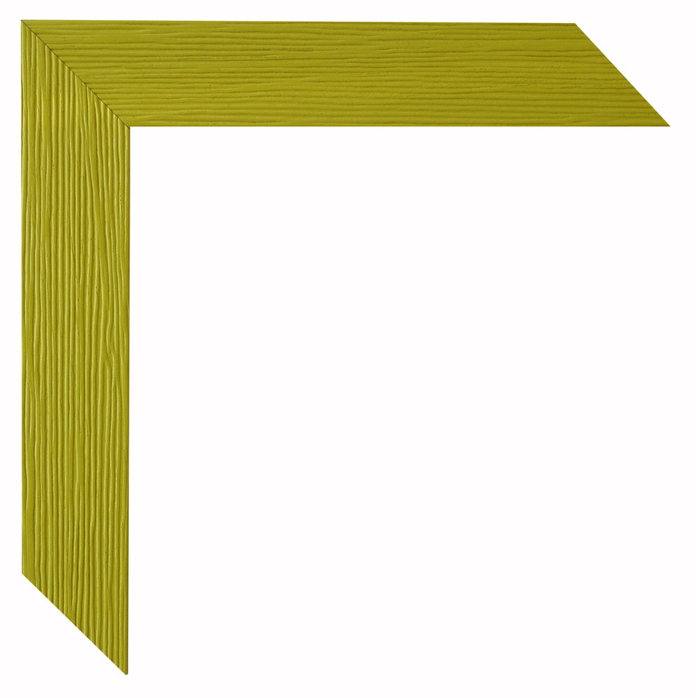Bilderrahmen Simply gelbgrün Massivholz 9x13 bis 45x60