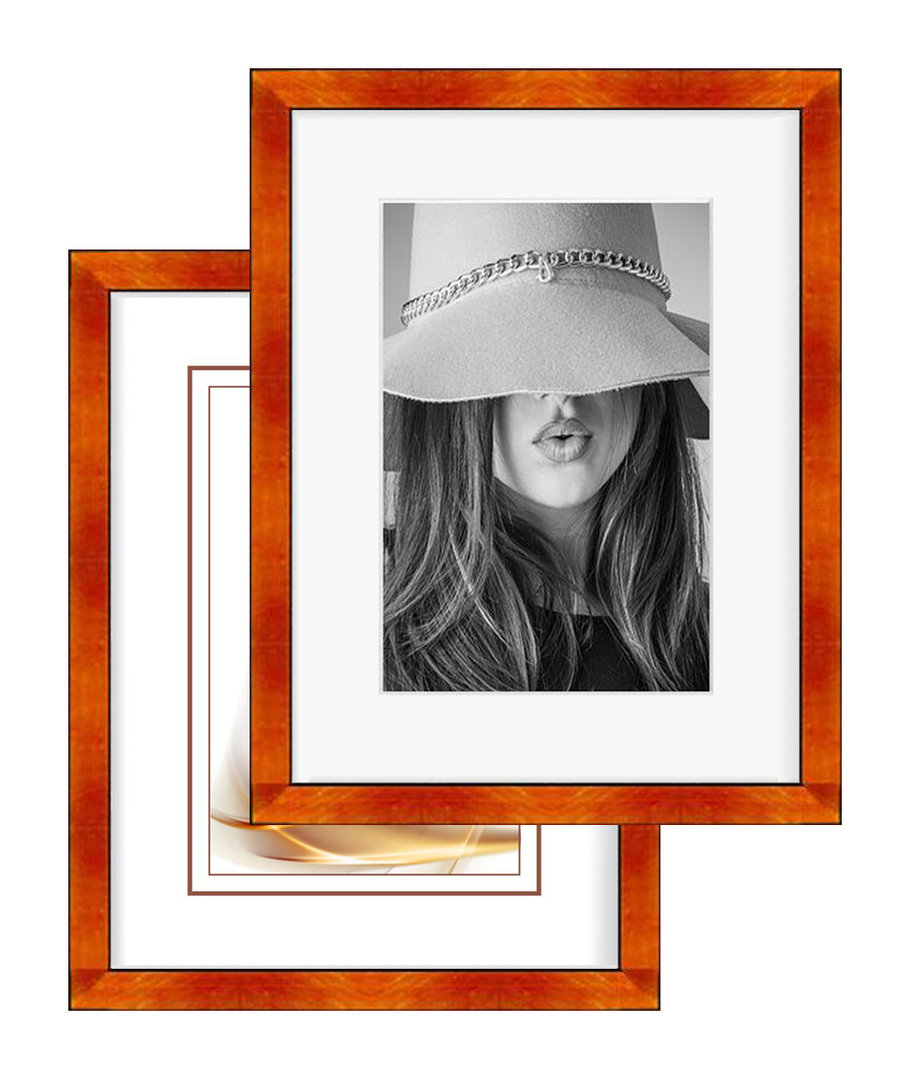 Portrait Bilderrahmen VIGO metallic orange